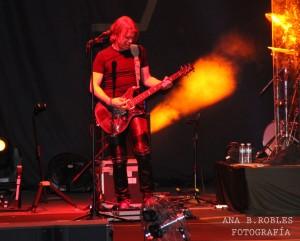 Uno de los músicos del concierto de Anastacia. Fotografía de Ana Belén Robles