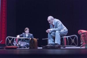 """Ensayo general de la obra """"El Discurso del Rey"""", dirigida por Magüi Mira, en el Teatro Español de Madrid."""