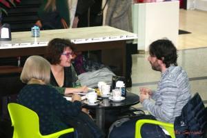 Conversando con Alicia Giménez Bartlett y Daniel Sánchez Arévalo. Fotografía de Mai Serrano
