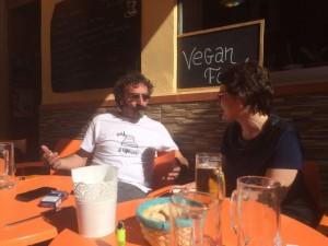 Javier Arnal durante nuestra entrevista.