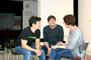Fran Perea y Javier Márquez durante nuestra entrevista. Fotografía de Mai Serrano