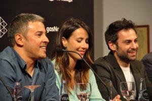 David Canovas, Bárbara Goenaga y Carlo D´Ursi. Fotografía de Ana Sonia Macías Martín.