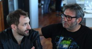 Julian Villagrán y Sergi López. Fotografía de Daniel Fernández Sosa