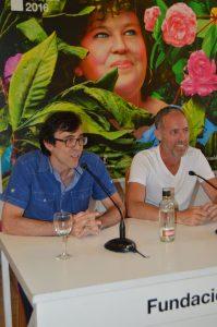 """Israel Elejalde y Miguel del Arco durante la rueda de prensa de presentación de """"Hamlet"""". Fotografía de Laura Vil"""