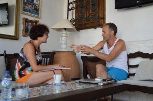 Entrevista con Miguel del Arco. Fotografía de Laura Vil