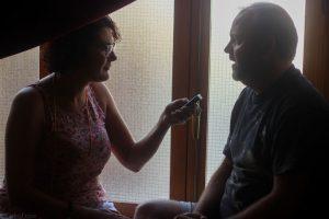 Entrevista a Víctor Matellano durante el Almería Western Film Festival. Fotografía de Carlos Freire