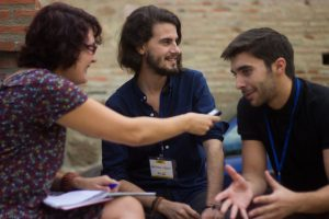 Entrevista con Marino Darés y Héctor Juezas durante el Almería Western Film Festival. Fotografía de Carlos Freire