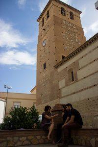 Entrevista con Marino Darés y Héctor Juezas durante el Almería Western Film Festival. Fotografía de Carlos Freire.