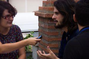 Marino Darés durante nuestra entrevista en Almería Western Film Festival. Fotografía de Carlos Freire