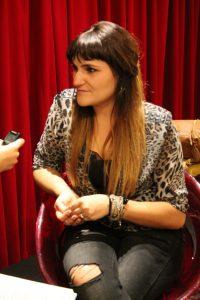 Rozalen durante nuestra entrevista en Fnac Málaga. Foto de Loli Cerezo