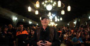 """Terrence Hill recibiendo el premio """"Tabernas de Cine"""". Fotografía de Carlos Freire"""
