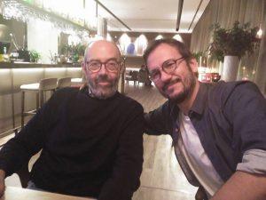 Miguel Rellán y David Serrano durante nuestra entrevista