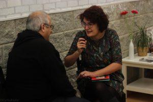 MagoMigue durante nuestra entrevista. Fotografía de Carlos Freire