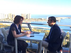 Lorenzo Silva durante nuestra entrevista. Fotografia de Mai Serrano