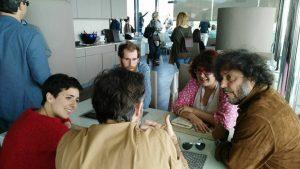 Entrevista con Javier Carramiñana, Macarena Sanz, Pepe Ocio y Enrique Lavigne. Fotografia de Laura Vil.