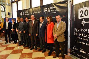 Autoridades presentando el 20 Festival de Cine Español de Málaga. Fotografía de Laura Vil