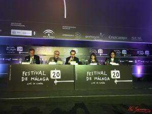 Lectura del palmarés de la 20 edición del Festival de Cine en Español de Málaga. Fotografía de Mai Serrano