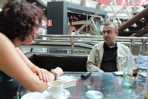 Lorenzo Manuel Silva durante nuestra entrevista. Fotografía de Víctor Almazán