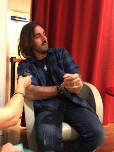 Andrés Suárez durante nuestra entrevista. Fotografía de Kris León