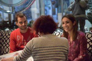 Alma Obregón durante nuestra entrevista. Fotografía de Javi Sánchez