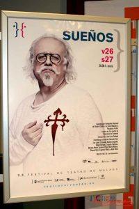 """Cartel de """"Sueños"""". Se representa hoy y mañana sábado 27 a las 20:00 en el Teatro Cervantes. Fotografía de Mai Serrano."""