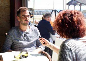 Jorge Aguilera durante nuestra entrevista. Fotografía de Jose Vera.