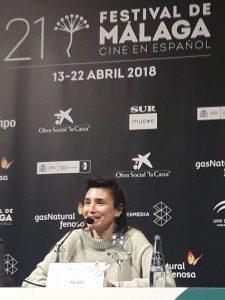 """Valeria Bertucelli en la rueda de prensa de """"La reina del miedo"""""""