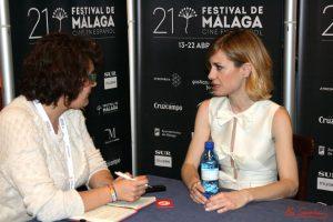Alexandra Jiménez durante nuestra entrevista. Fotografía de Mai Serrano,