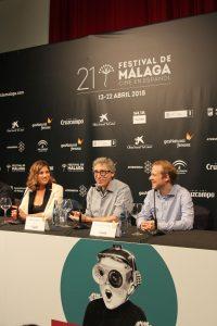 """Rueda de prensa de """"Casi 40"""". Fotografía de Víctor Almazán."""