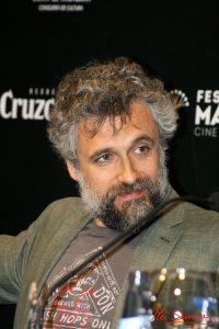 """El director, Pau Durà, durante la rueda de prensa de """"Formentera Lady"""". Fotografía de Mai Serrano."""
