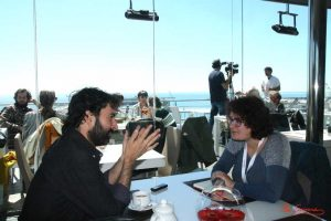 Mateo Gil durante nuestra entrevista. Fotografía de Mai Serrano.
