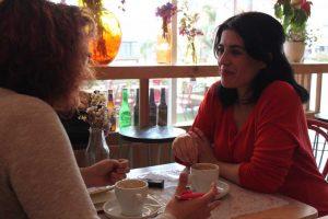 Rocío Vidal durante nuestra entrevista. Fotografía de José Vera.