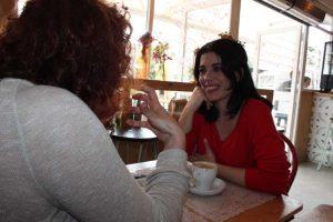 Rocío Vidal durante nuestra entrevista. Fotografía de Jose Vera.