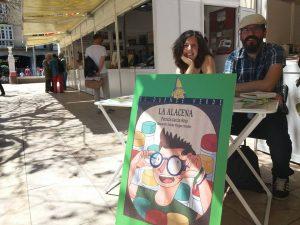 """Presentación de """"La alacena"""" en Feria del Libro de Málaga con Patricia García Rojo y Nacho Pangua."""
