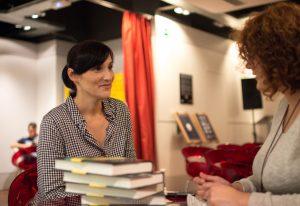 Clara Peñalver durante nuestra entrevista. Fotografía de Carlos Freire.