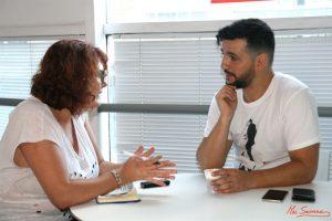 Fran Perea durante nuestra entrevista. Fotografía de Mai Málaga