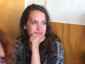 Estefanía Moscoso durante nuestra entrevista. Fotografía de Mai Serrano.