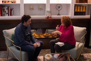 Mikel Santiago durante nuestra entrevista. Fotografía de Carlos Freire.