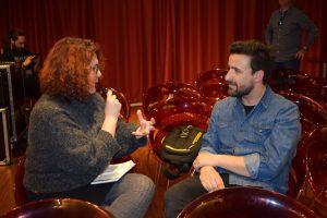 Funambulista durante nuestra entrevista. Fotografía de Kris León.