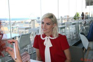 Amaia Salamanca durante nuestra entrevista. Fotografía de Mai Serrano.