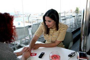 Marián Hernández durante nuestra entrevista. Fotografía de Mai Serrano.