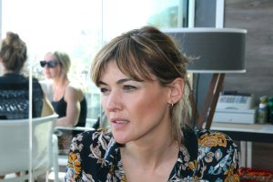 Marta Nieto durante nuestra entrevista. Fotografía de Mai Serrano.