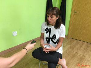 Lorena Roncero durante nuestra entrevista. Fotografía de Mai Serrano.