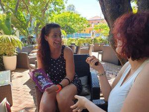 Isabel Vera durante nuestra entrevista. Fotografía de Jose Vera.