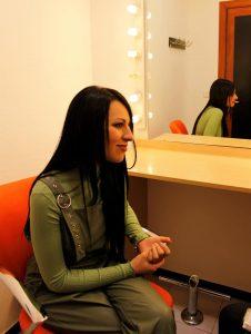 María Artés durante nuestra entrevista. Fotografía de Arantxa Catalá.