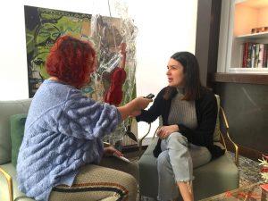 Ana Oncina durante nuestra entrevista. Fotografía de Mai Serrano.
