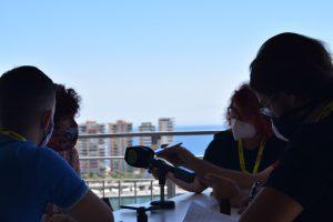 Icíar Bollaín durante la entrevista. Fotografía de Emanuel Lunardi.