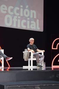 David Trueba en la rueda de prensa del Teatro Cervantes.