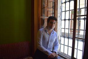 Ángel David Castillo durante nuestra entrevista.