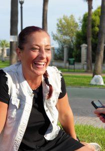 Isa Vera durante nuestra entrevista. Fotografía de Jose Vera.